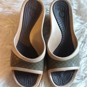CROCS slip on sandals size 10
